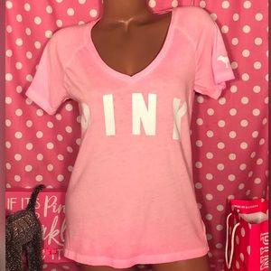 Pink Victoria's Secret V-neck T-shirt